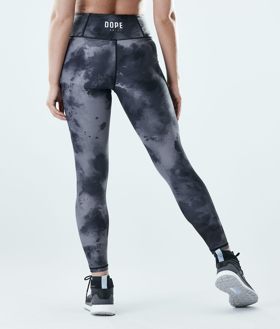 Lofty Leggings Women Black Tiedye
