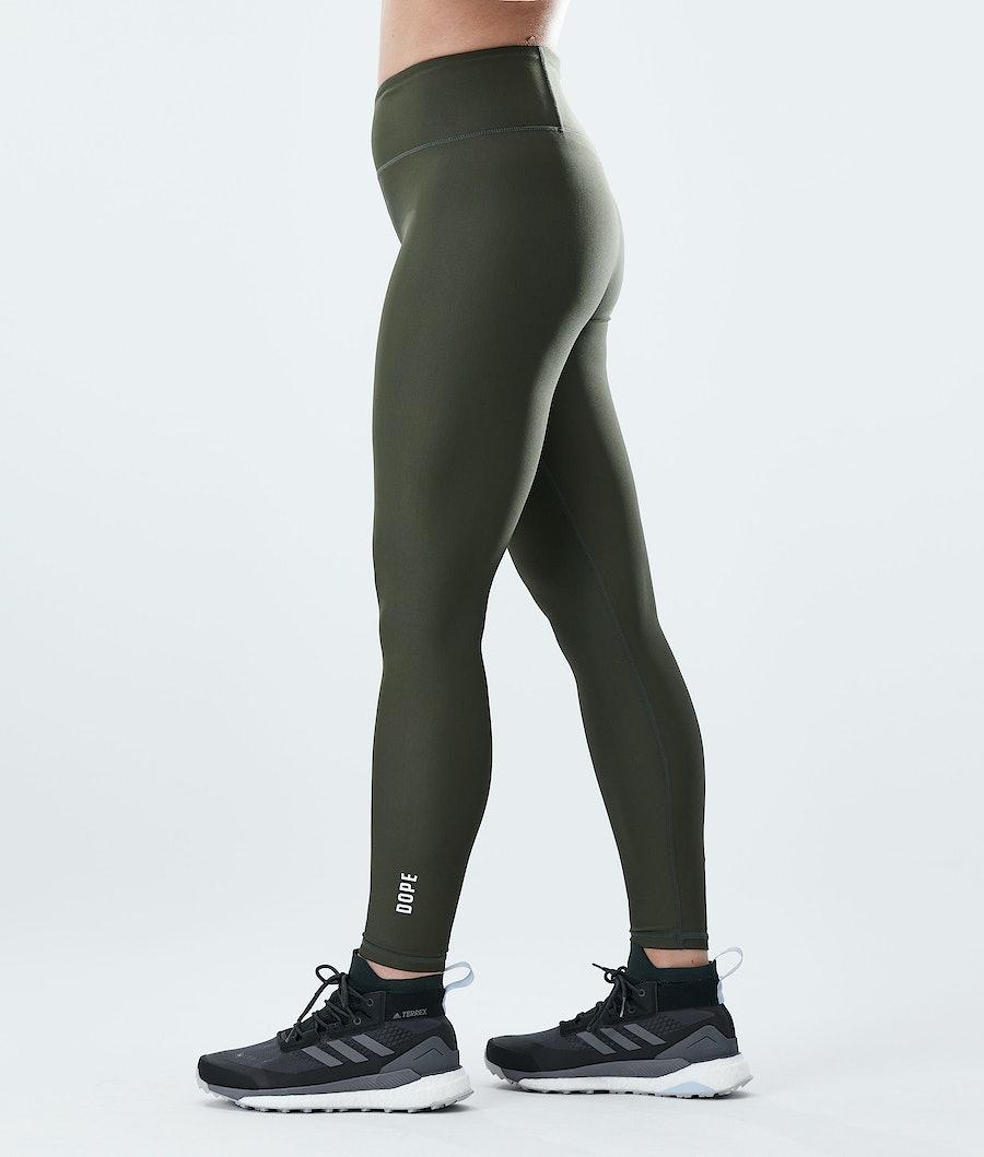 Dope Lofty Women's Leggings Olive Green