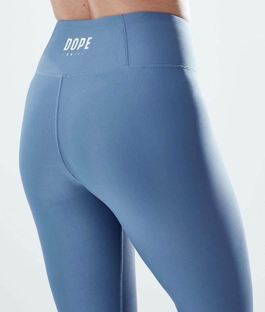 Dope Lofty Leggings Donna Blue Steel