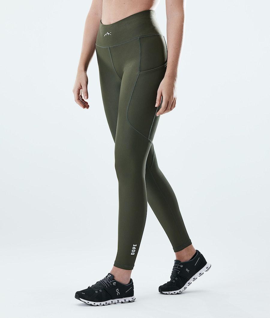 Dope Lofty Tech Women's Leggings Olive Green