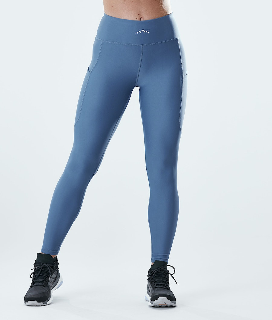 Lofty Tech Leggings Women Blue Steel