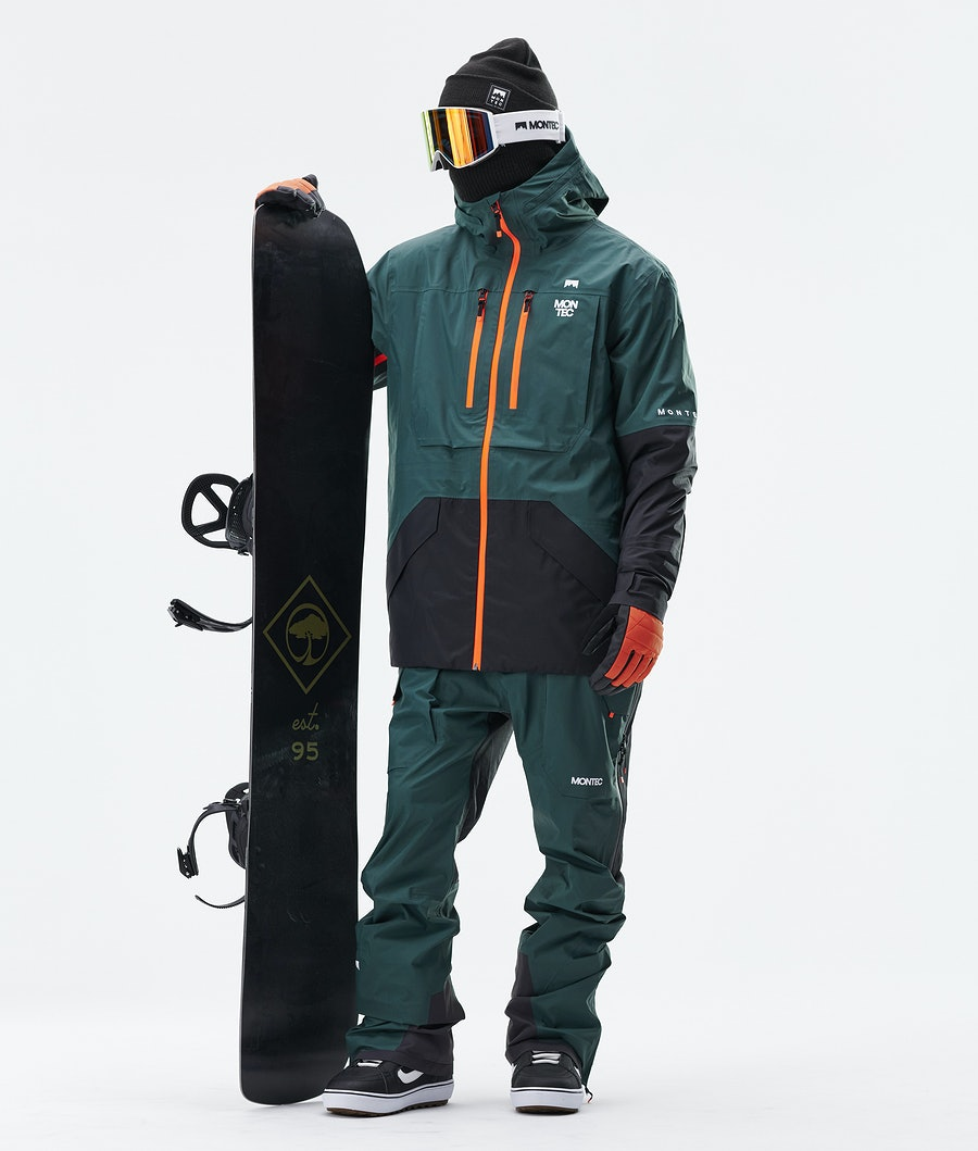 Montec Fenix 3L Snowboard Jacket Dark Atlantic Black