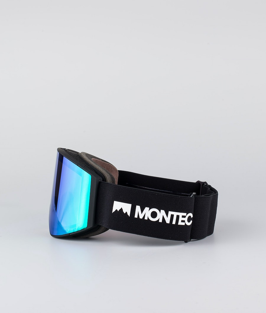 Montec Scope Large Ski Goggles Black W/Black Tourmaline Green