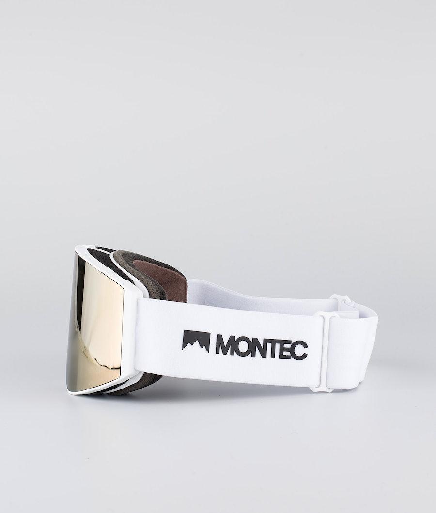 Montec Scope Large Skibriller White W/White Rose