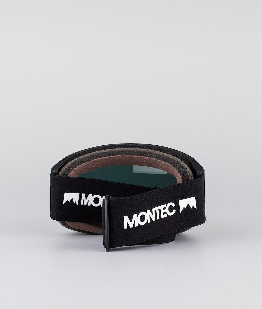 Montec Scope Large Skibril Black W/Black Rose