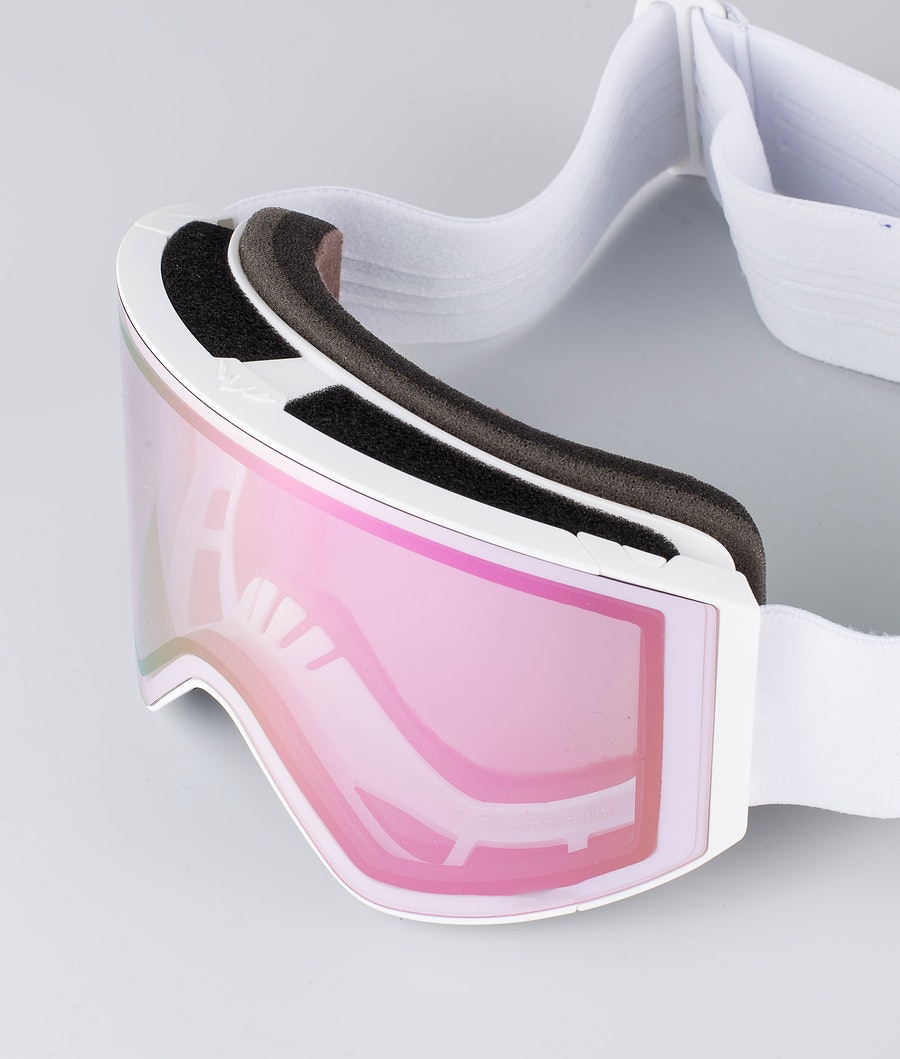 Montec Scope Large Ski Goggle White W/White Pink Sapphire