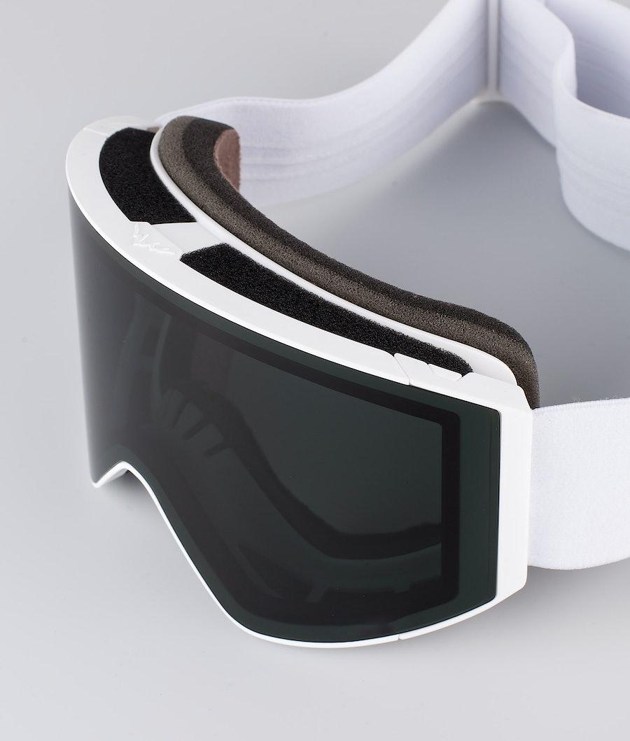 Montec Scope Large Ski Goggles White W/White Black