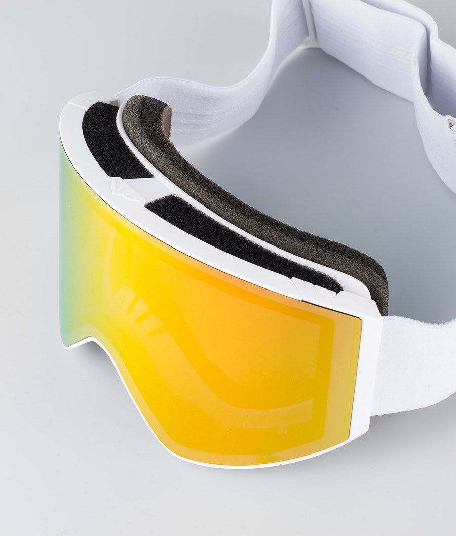 Montec Scope Large Ski Goggles White W/White Roby Red