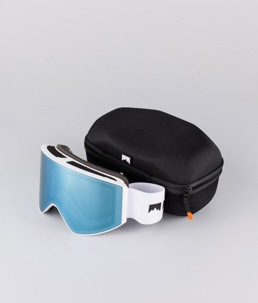 Montec Scope Large Skibril White W/White Moon Blue