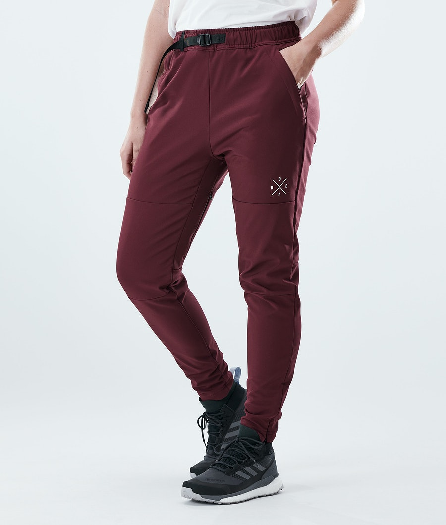 Nomad W Outdoor Pants Women Burgundy