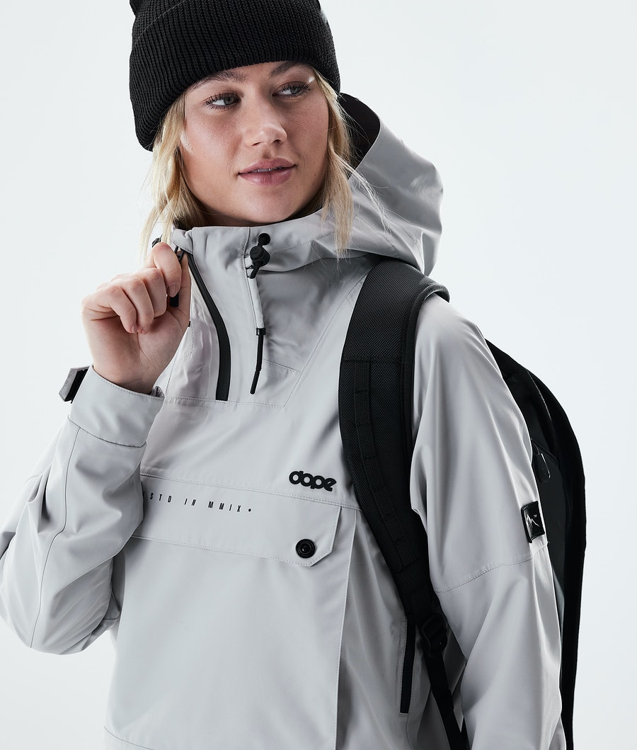Dope Hiker W Women's Outdoor Jacket Light Grey