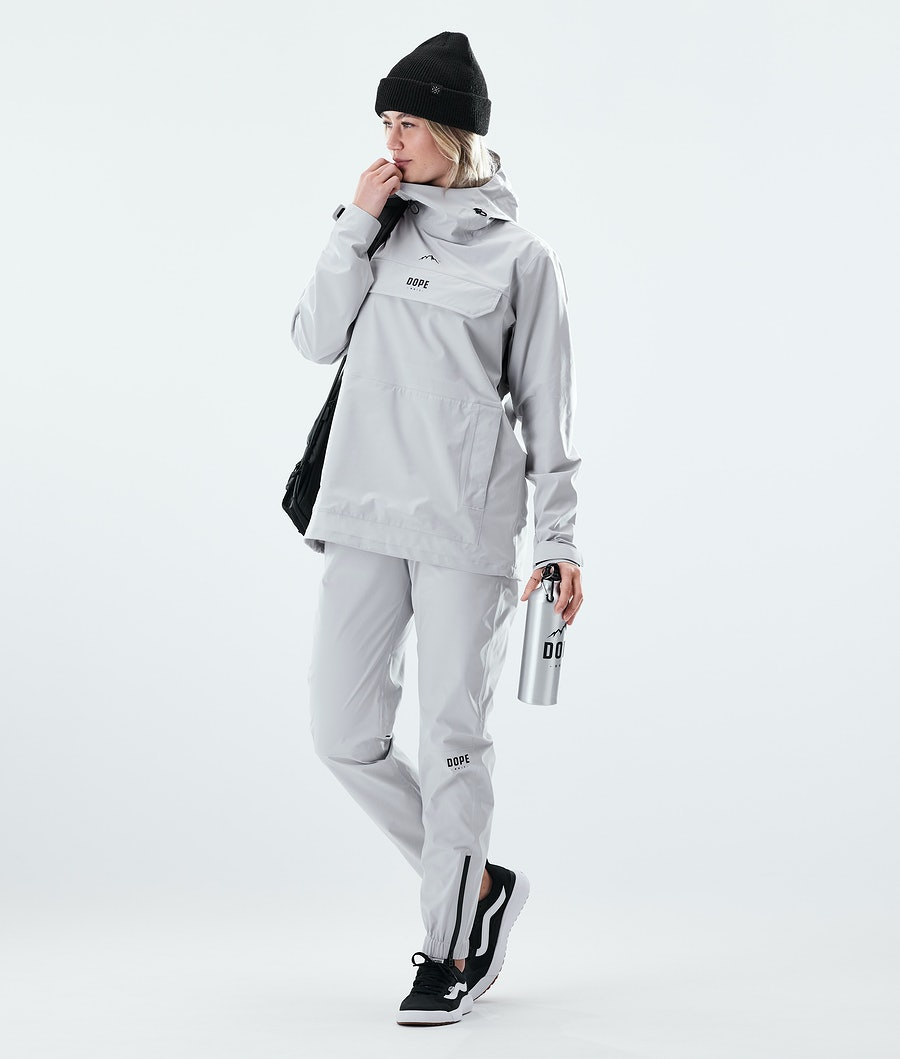 Dope Drizzard W Women's Rain Jacket Light Grey
