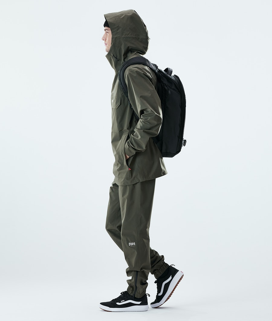 Dope Drizzard Rain Jacket Olive Green