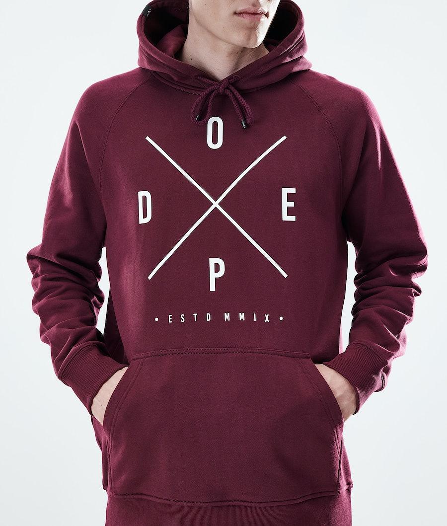 Dope Daily 2X-UP Hoodie Burgundy