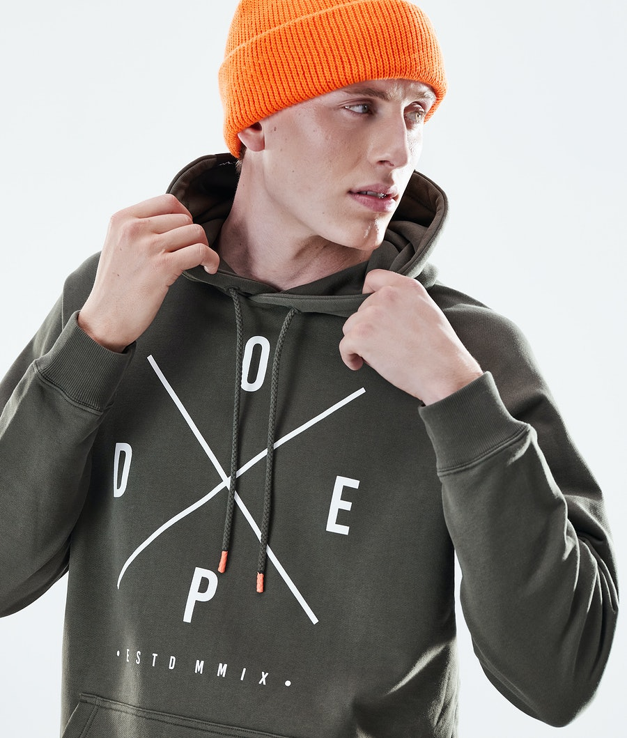 Dope Daily 2X-UP Hoodie Olive Green