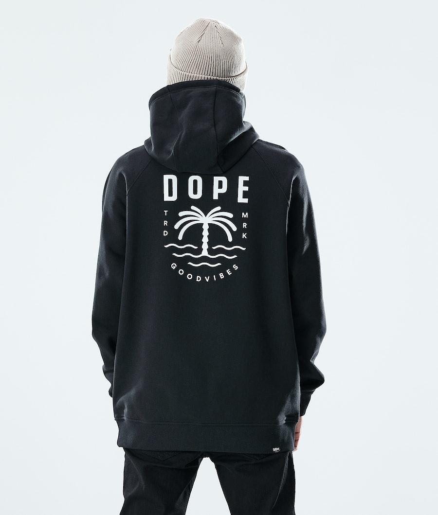 Dope Daily Palm Hoodie Black