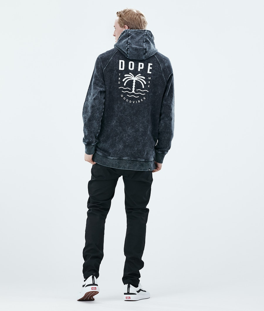Dope Daily Palm Hoodie Bleached Black
