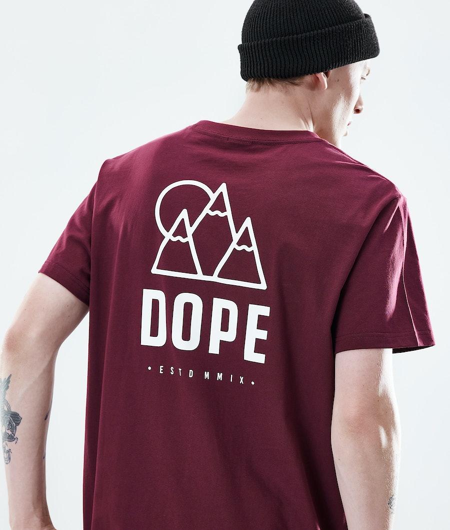 Dope Daily Rise T-shirt Burgundy