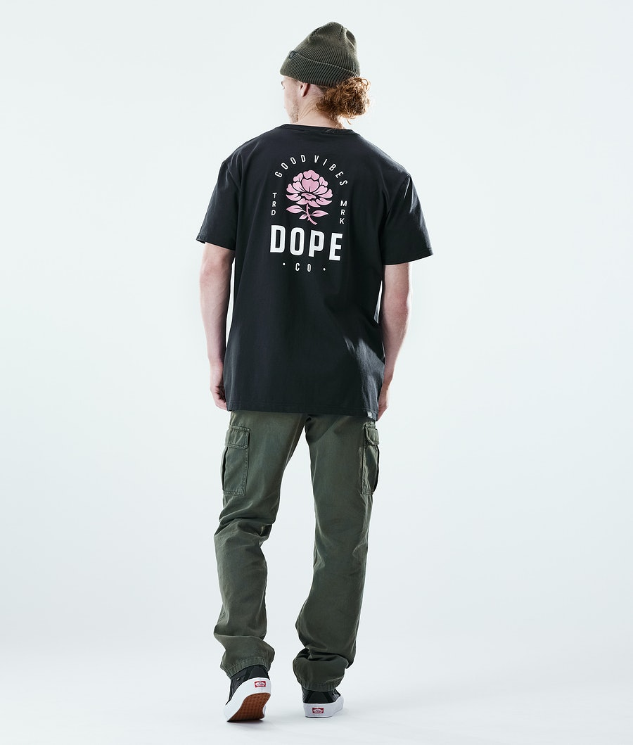 Dope Daily Rose T-shirt Black