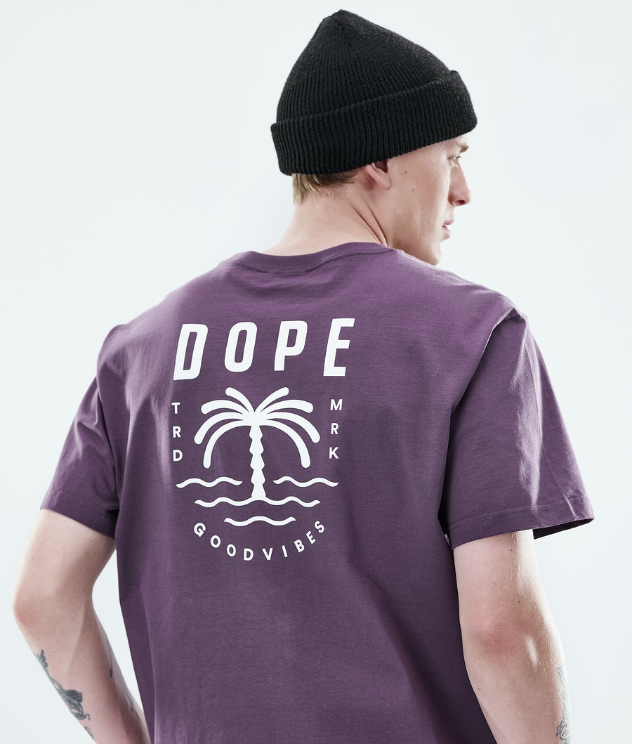 Dope Daily Palm T-shirt Faded Grape