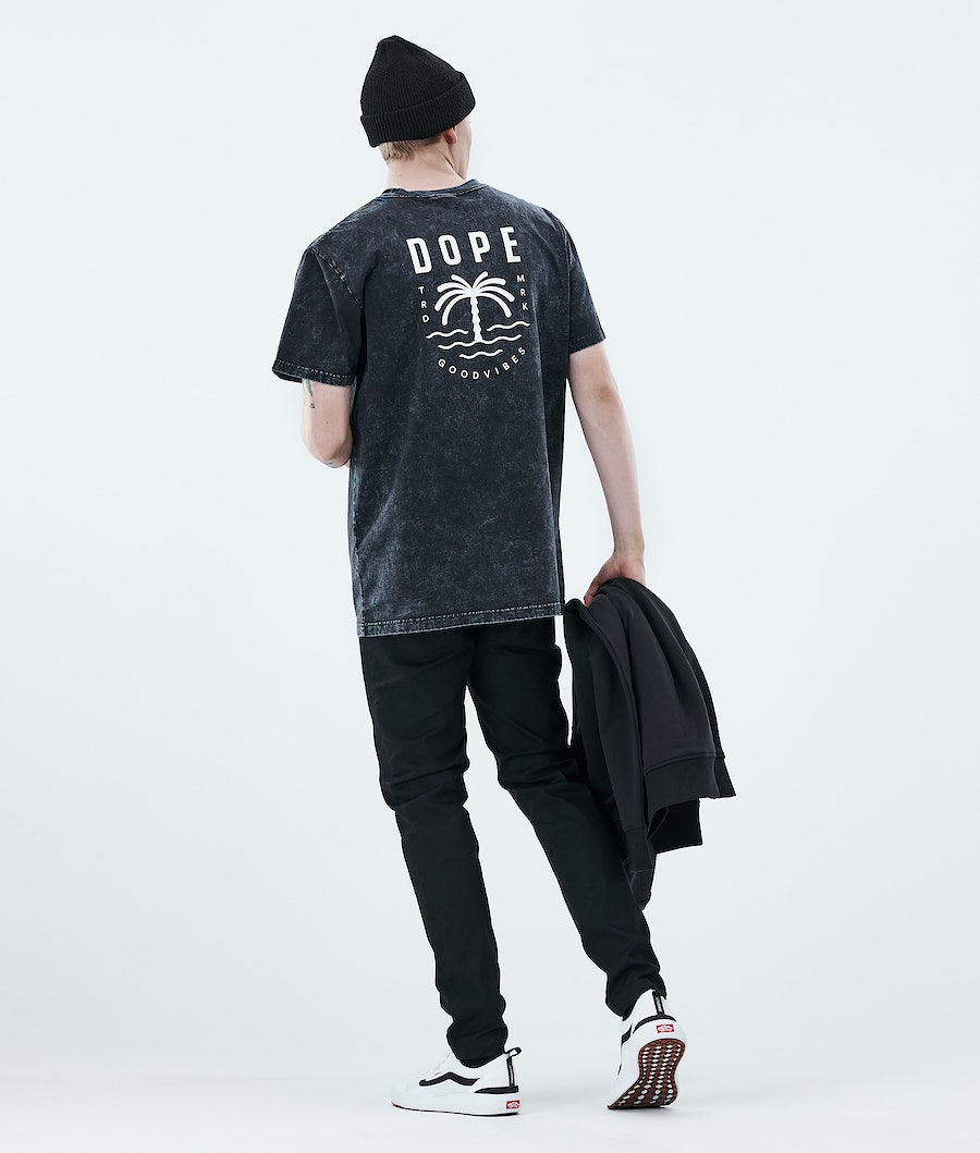 Dope Daily Palm T-shirt Bleached Black