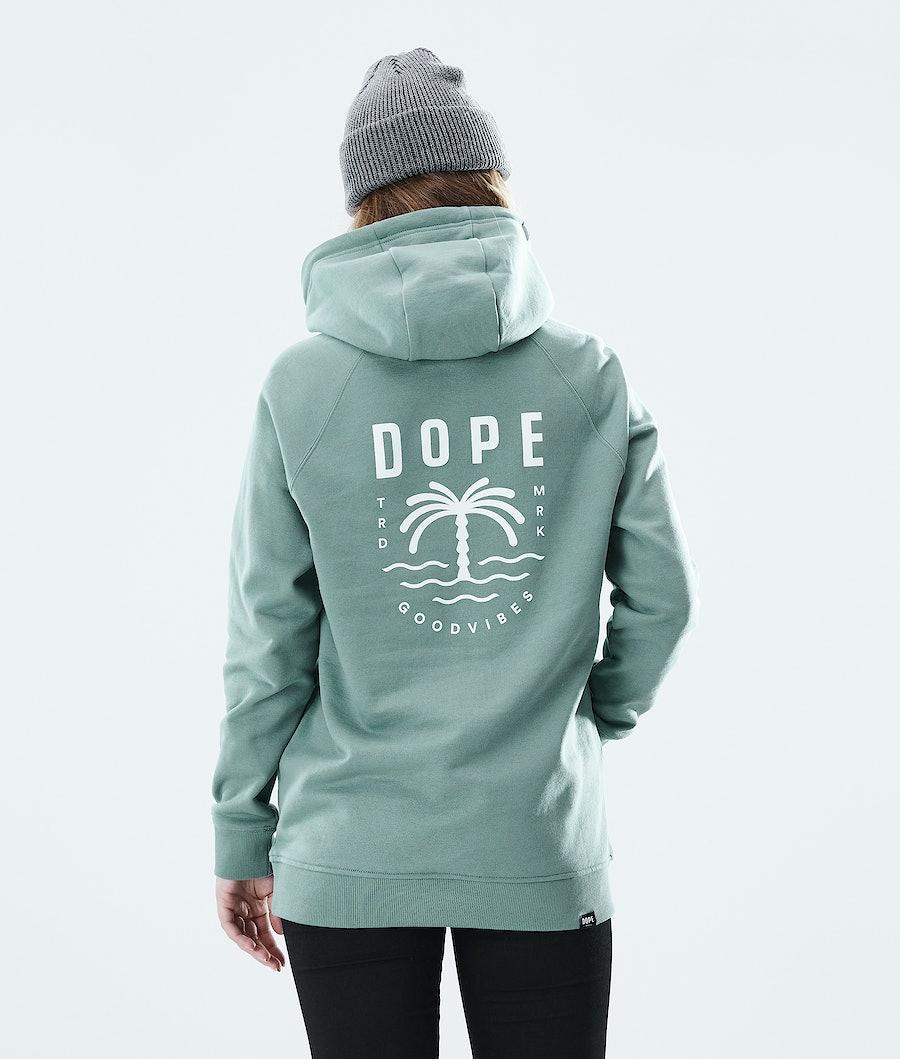 Dope Regular Palm Hoodie Faded Green