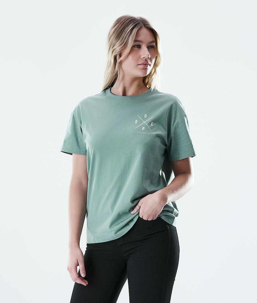 Dope Regular 2X-UP T-shirt Faded Green