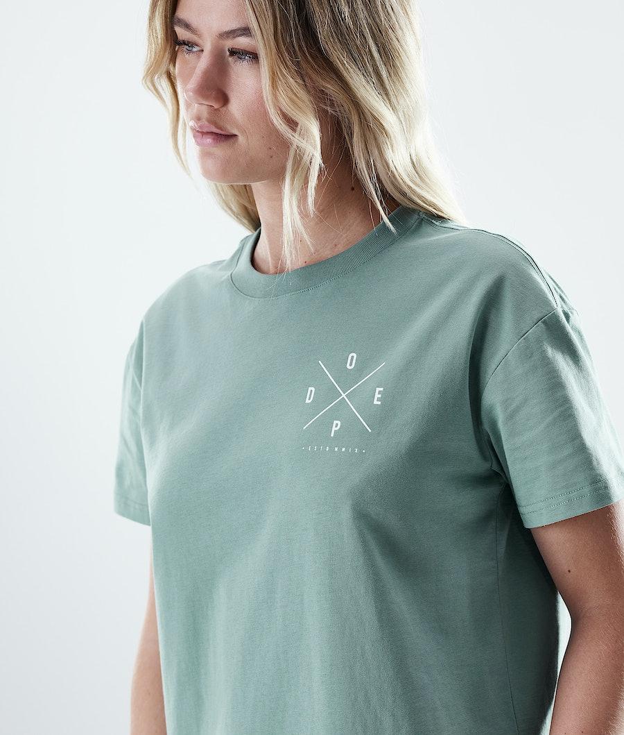 Dope Regular 2X-UP T-shirt Donna Faded Green