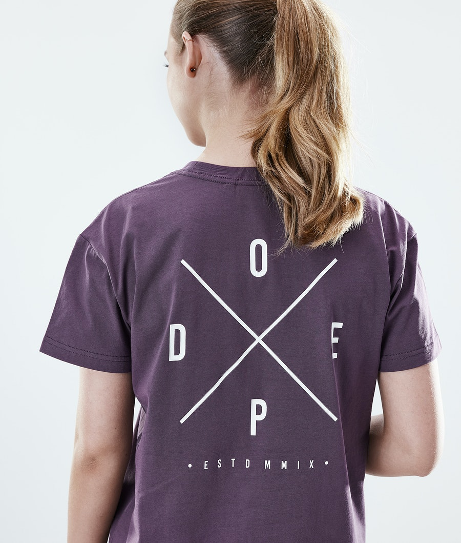 Dope Regular 2X-UP T-shirt Donna Faded Grape