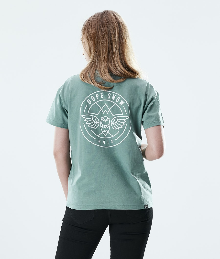 Dope Regular Beak T-shirt Donna Faded Green