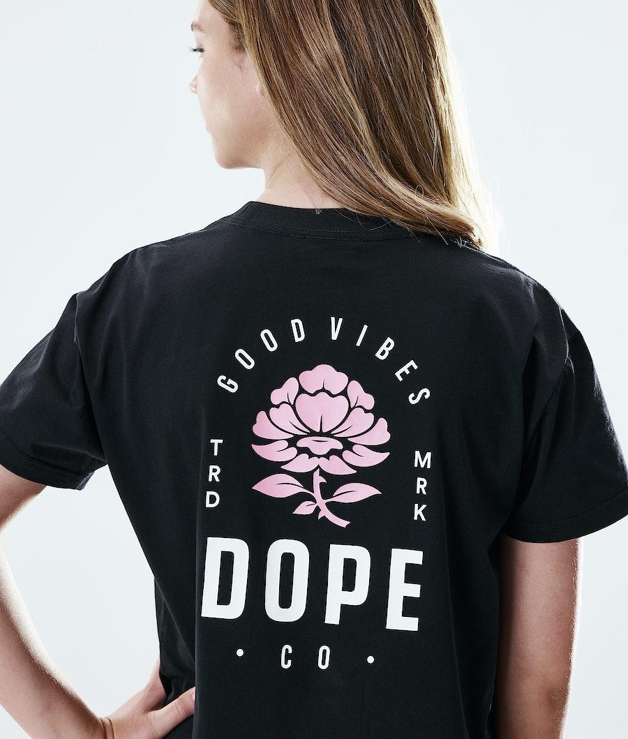 Dope Regular Rose T-shirt Donna Black