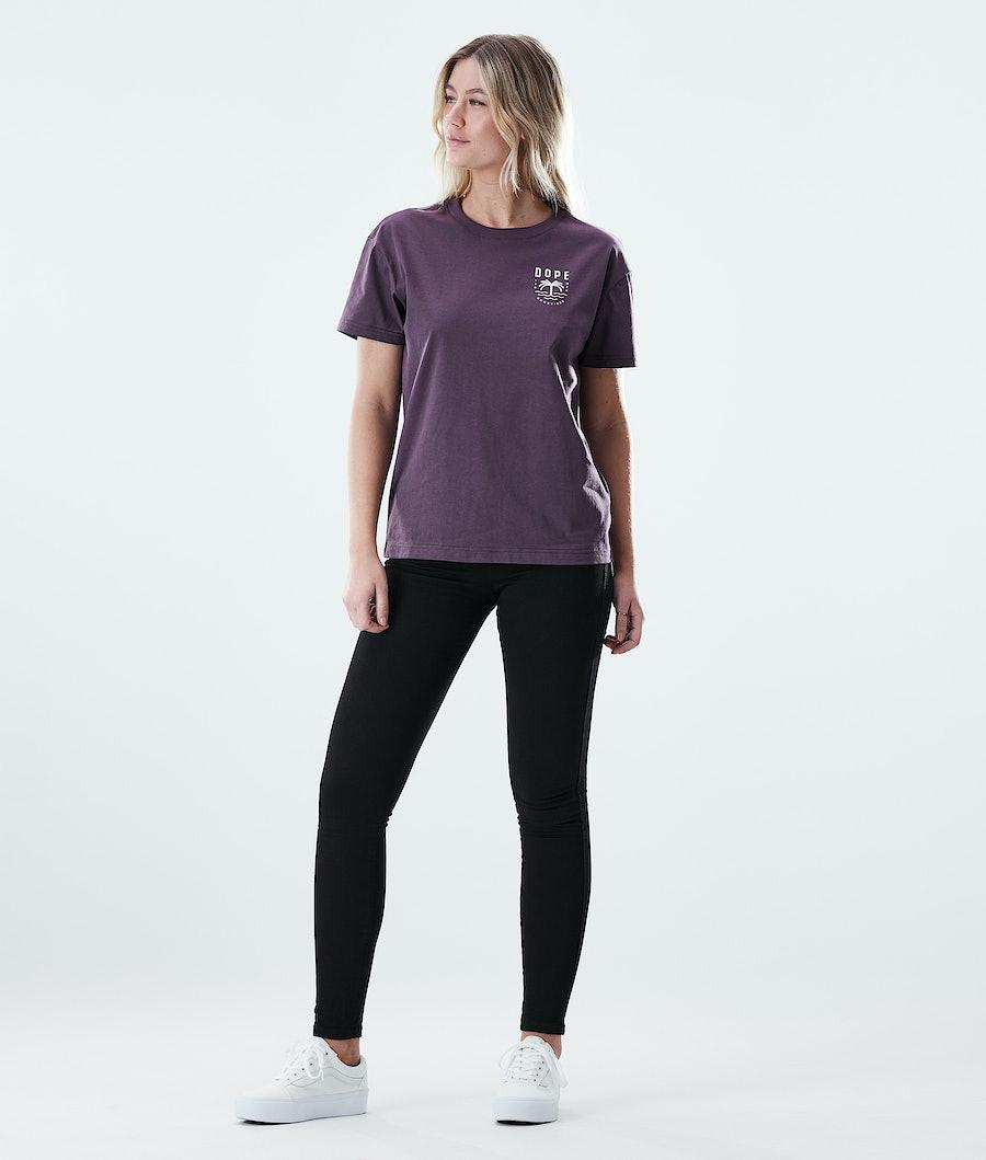 Dope Regular Palm Women's T-shirt Faded Grape