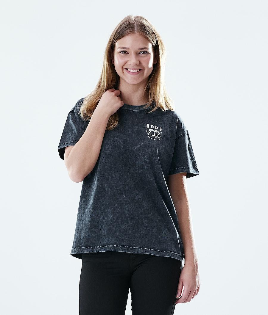 Dope Regular Palm T-shirt Bleached Black