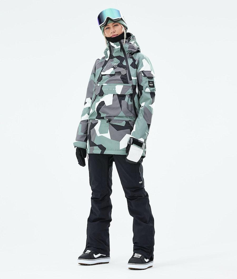 Dope Akin W Snowboardjacke Damen Faded Green Camo