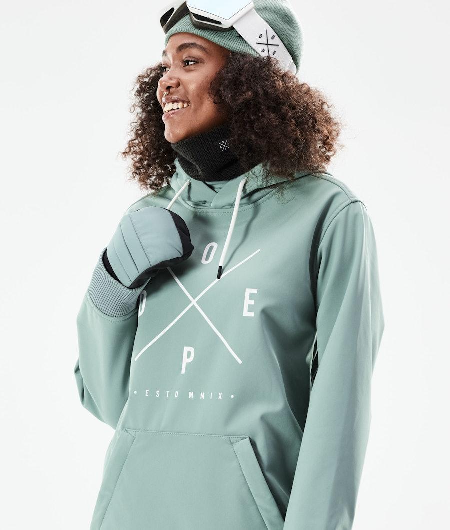 Dope Yeti W 10k Women's Snowboard Jacket Faded Green