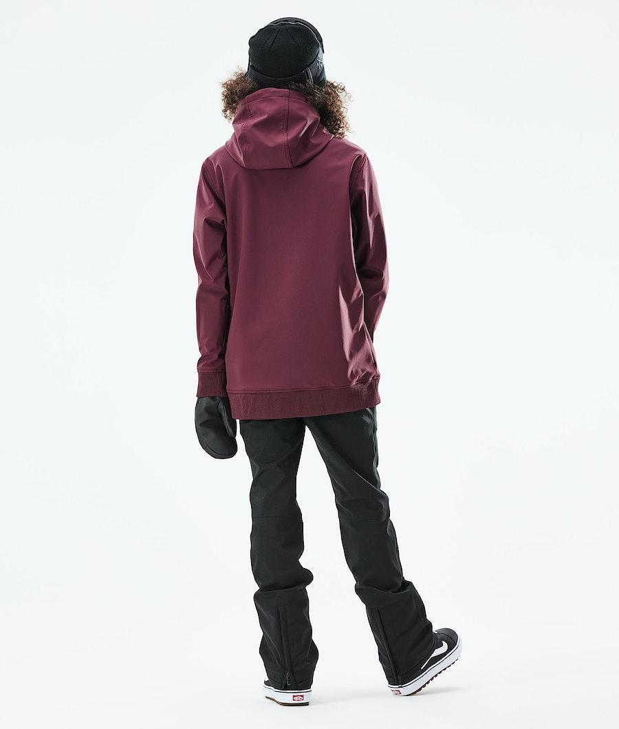Dope Yeti W 10k Women's Snowboard Jacket Burgundy