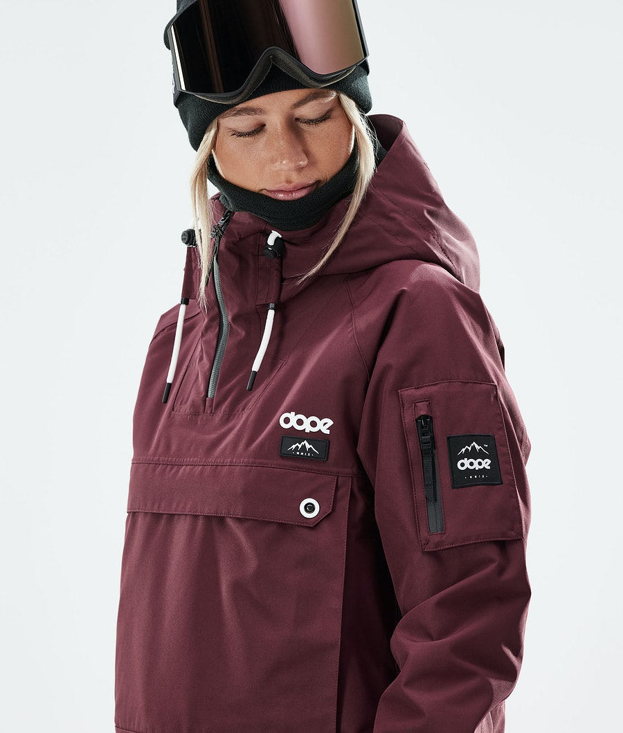 Dope Annok W Snowboardjacka Dam Burgundy
