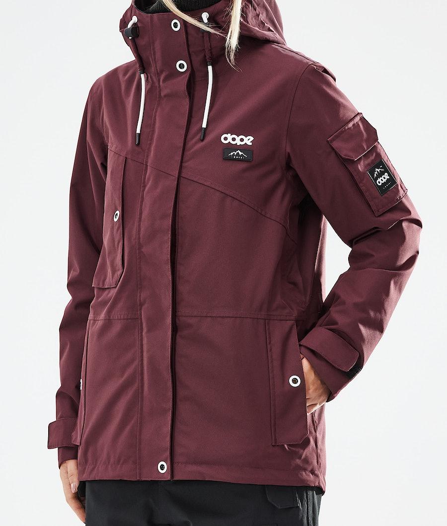 Dope Adept W Women's Snowboard Jacket Burgundy