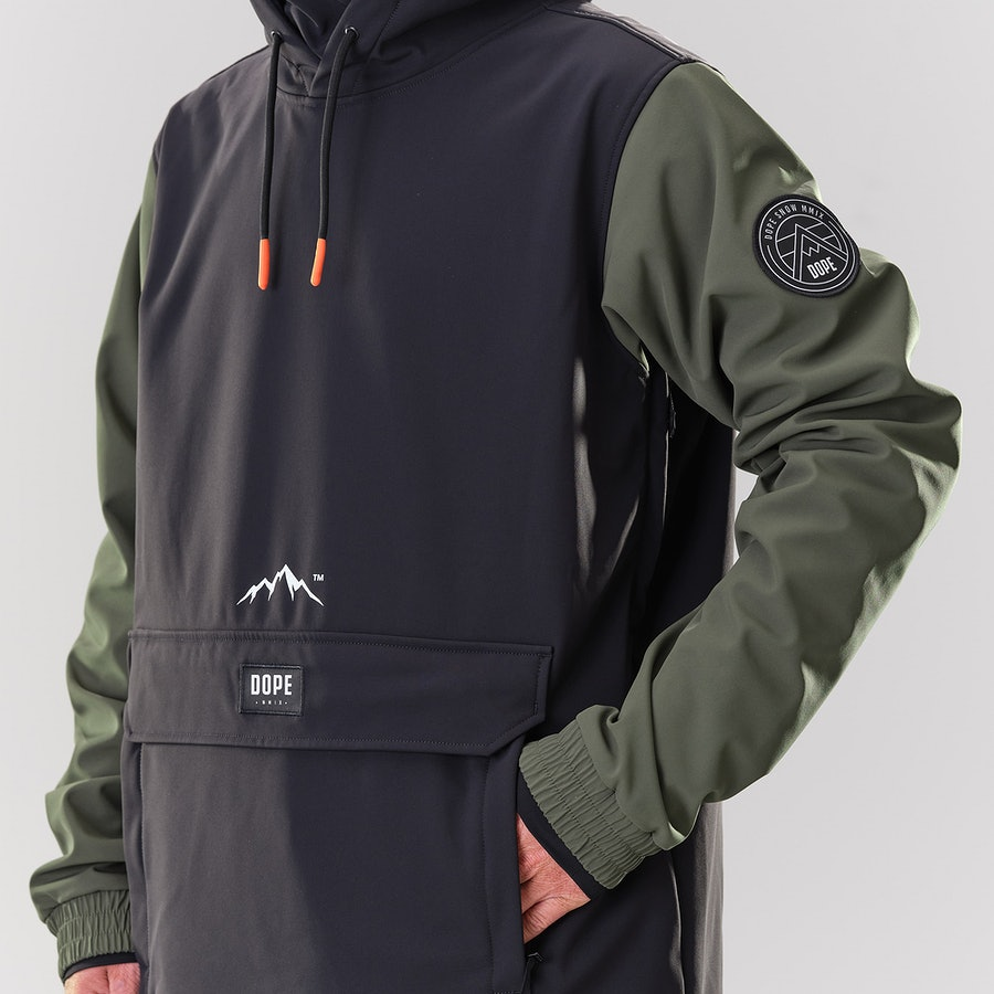 Dope Wylie Snowboard Jacket Black/Olive Green