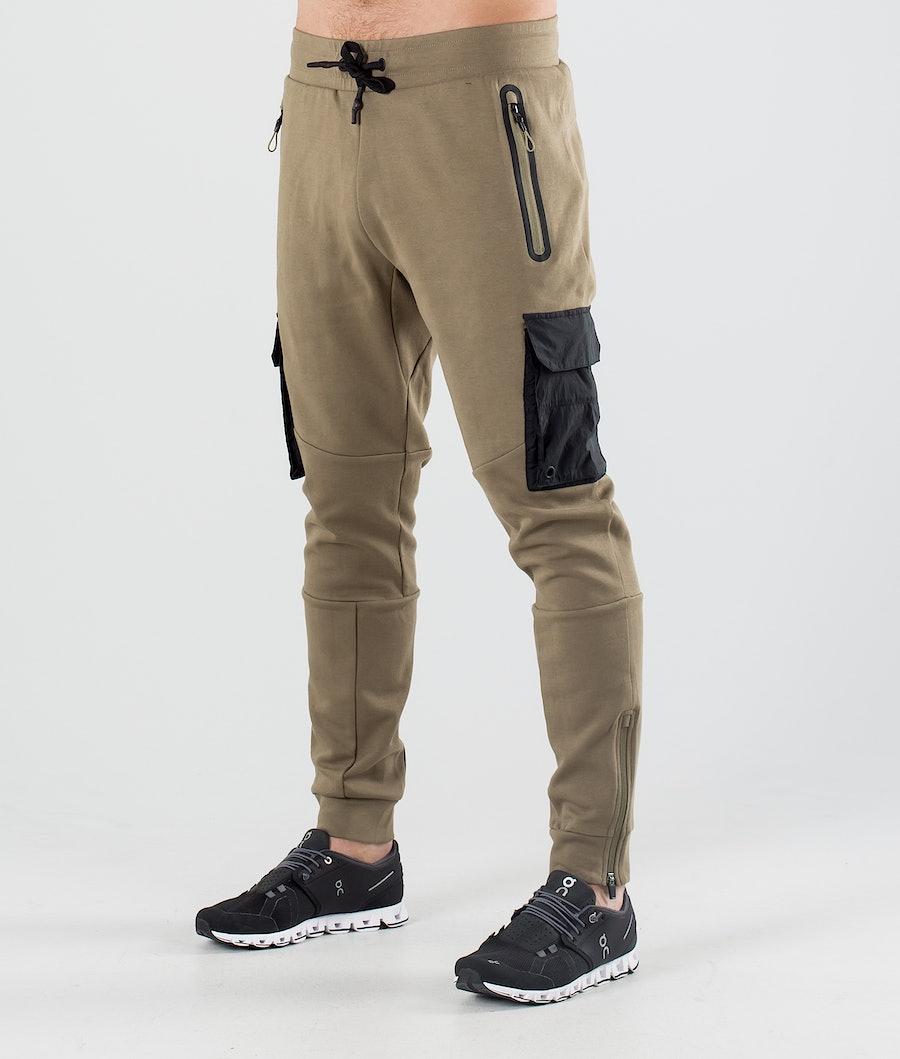ColourWear Urban Athleisure Turbukse Dark Khaki