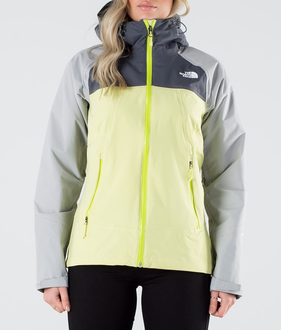 The North Face Stratos Women's Outdoor Jacket Pale Lime Yellow/Vndsgry/Mldgry
