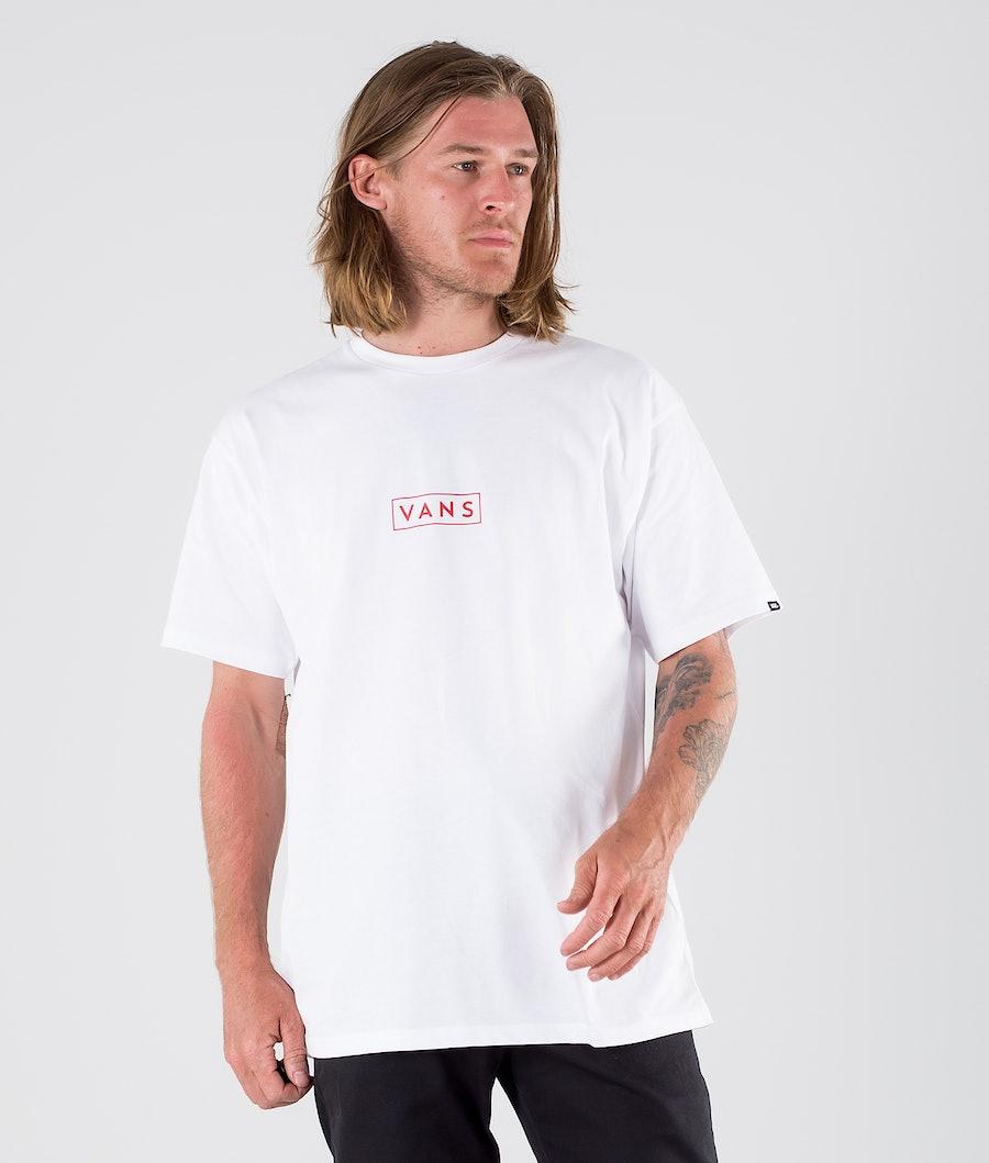 Vans Classic Easy Box T-shirt White/High Risk Red