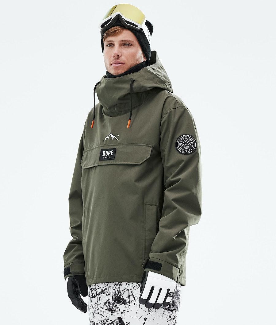 Dope Blizzard PO Snowboard Jacket Olive Green