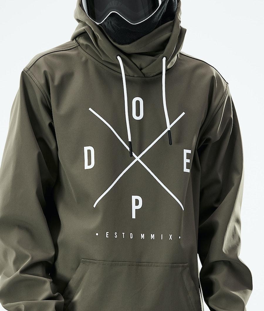 Dope Yeti Snowboard Jacket Olive Green