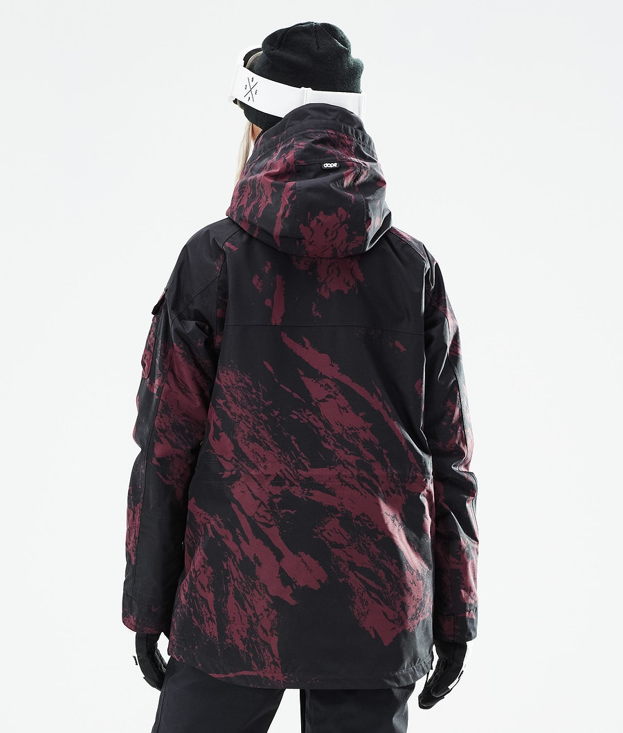Dope Akin W Snowboardjacke Damen Paint Burgundy
