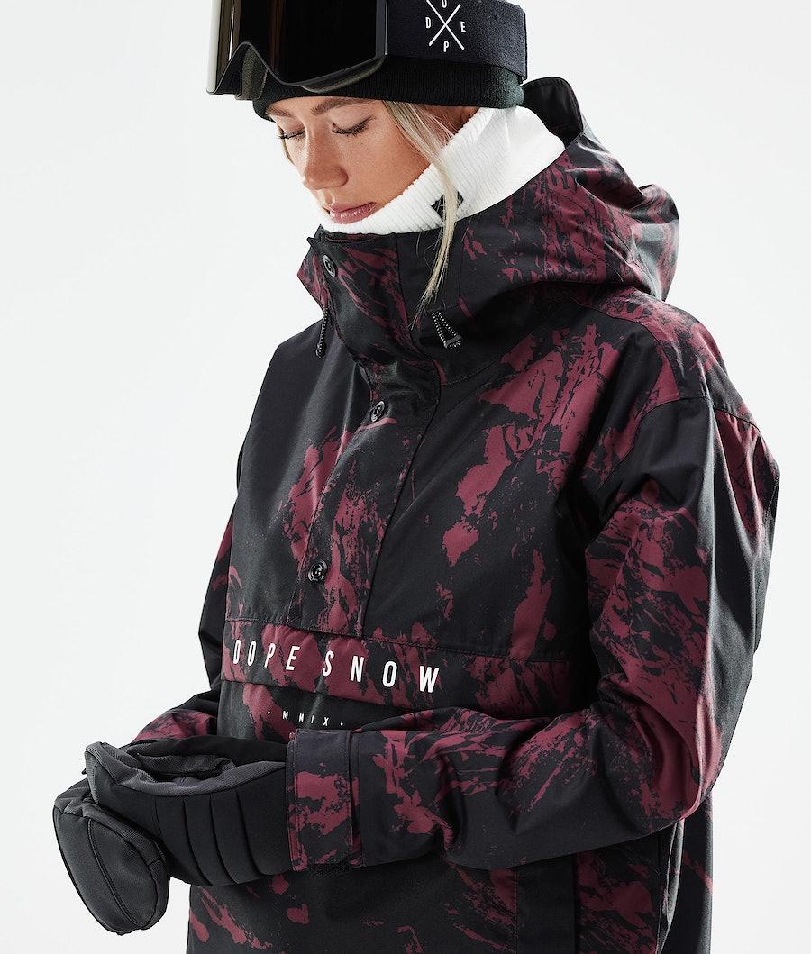 Dope Legacy W Snowboardjacke Damen Paint Burgundy