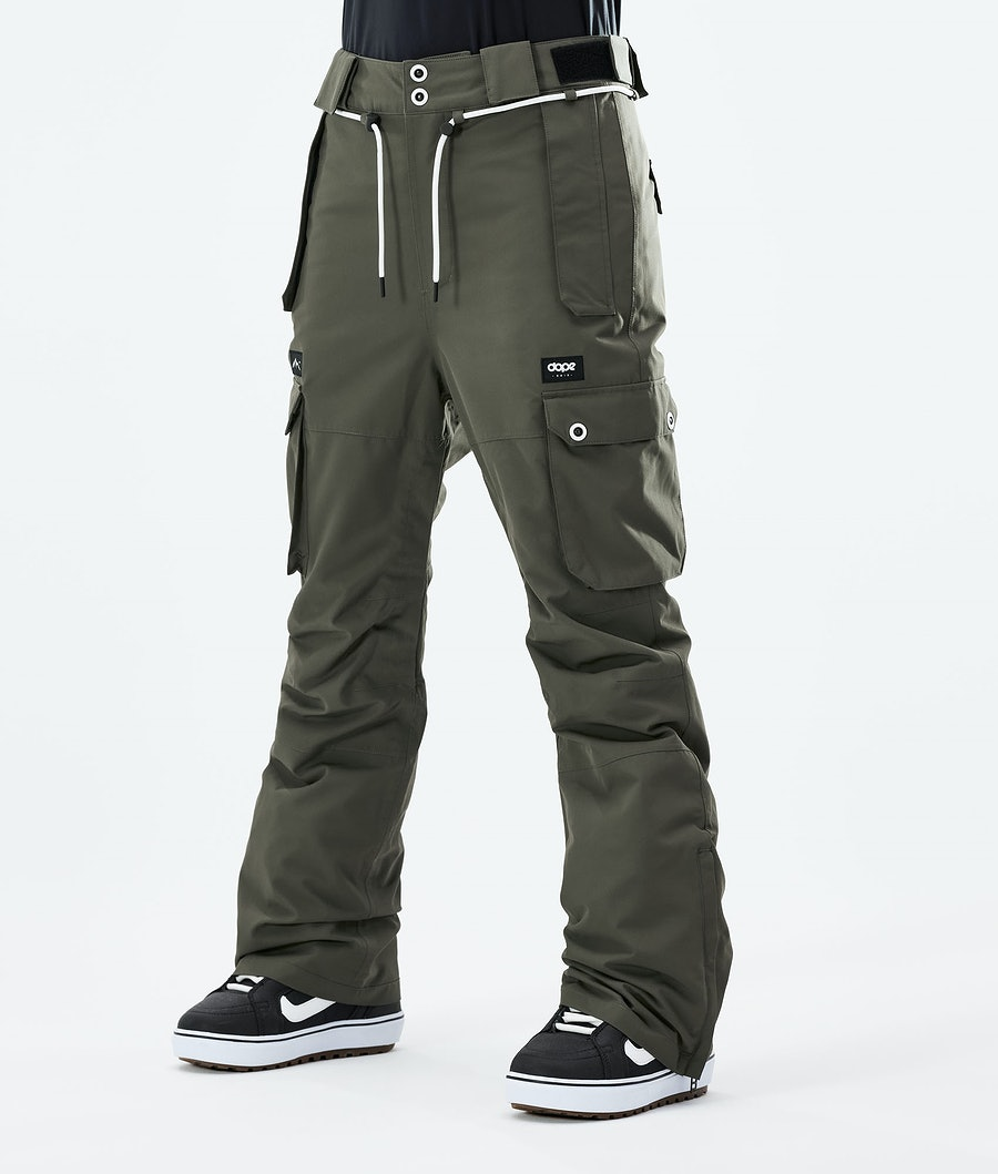 Dope Iconic W Snowboardhose Olive Green