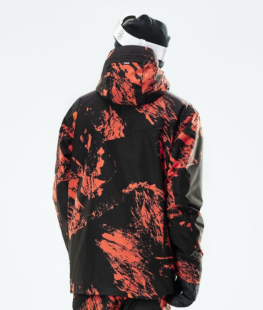 Dope Adept Snowboard Jacket Paint Orange