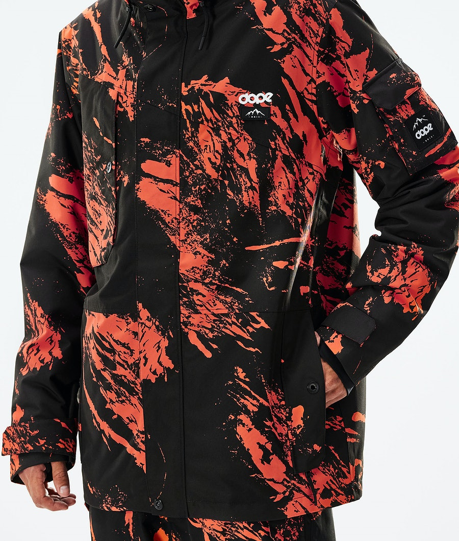 Dope Adept Skijacke Paint Orange