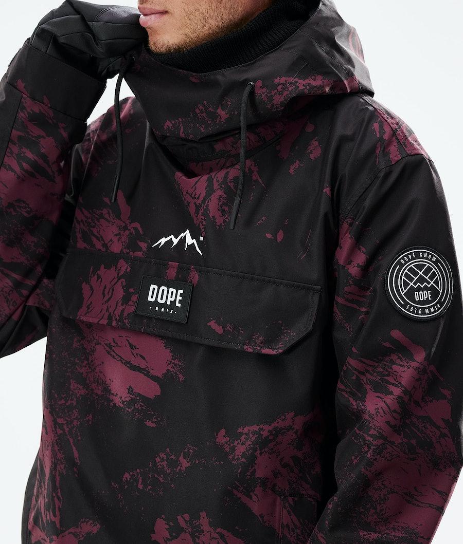 Dope Blizzard PO Snowboard Jacket Paint Burgundy